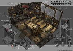 Stars my Destination: Control Station by yongs on DeviantArt