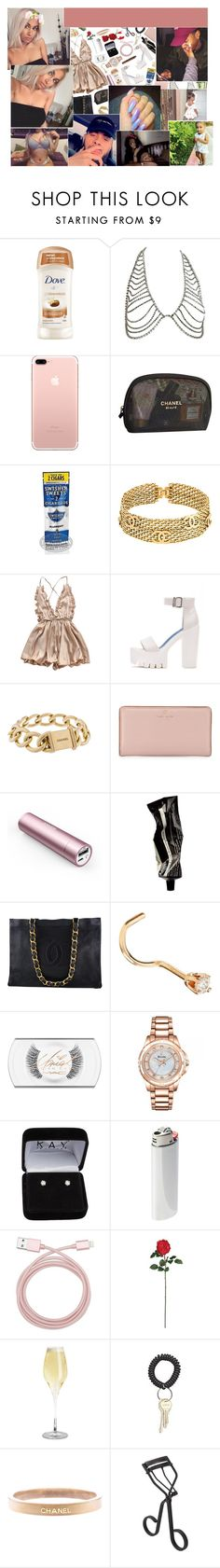 """date night."" by dis-trict ❤ liked on Polyvore featuring Chanel, Disney, Kate Spade, Panasonic, Aesop, MAC Cosmetics, Bulova, Vetements, Belkin and Nearly Natural"