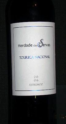 Adega dos Leigos: HERDADE DAS SERVAS TOURIGA NACIONAL 2006 Alentejo region