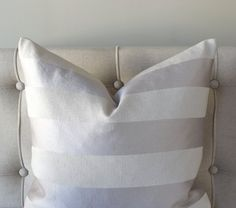 Throw Pillow Cover Grey Pillow Stripe Upholstery Shabby Chic Cushion Cover Pillow Sham 16x16 18x18 20x20 Bed Pillow Sofa Pillow Case