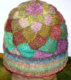 Knit Entrelac Hat PDF Pattern