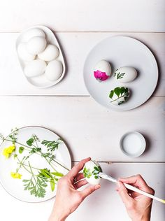 DIY Easter foliage eggs | Say Yes