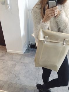 minimalizm waterproof backpack, semi transparent #basic #streetwear #accessories