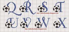 ENCANTOS EM PONTO CRUZ: Monograma de Futebol