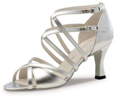 Werner Kern Womens Eva 2 34 65 cm Latin Heel Silver Leather 10 M US 7 UK * Find out more about the great product at the image link. (This is an affiliate link) Comfy Wedding Shoes, Wedding High Heels, Silver Bridal Shoes, Silver Heels, Pump Shoes, Shoe Boots, Tango Shoes, Dancing Shoes, Sparkle Shoes