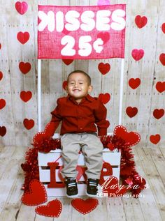 Valentine's day kissing booth photo idea