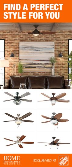 The Home Depot has a variety of designs and styles from large modern outdoor fans to indoor classics, so you're sure to find a fan that fits your needs. With easy QuickFit™ options, including AccuArm blade brackets and QuickInstall blades, you can even save up to 25% on installation time vs. traditional fans. Click to shop and explore your options.