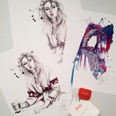 Getting prints ready to ship to some wonderful clients.  I'm pretty excited about the new larger sizes available now!! Only a few hours left of the holiday sale in my Etsy shop!  20% off with code JOY20  etsy.com/shop/danielpaigestudio - - - - -  #fashion #fashionillustration #illustration #illustrationoftheday #beautiful #girl #watercolor #art #artist #ididthis #fashionart #fashionlover #fashiondesign #beauty #fashionillustrator #illustrator #creative  #artoftheday #picoftheday #dailyart…