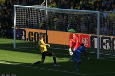 Watford fell behind when Wilson pounced at the front post to guide his header underneath Watford keeper Heurelho Gomes