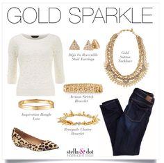 Gold accessories with the perfect amount of sparkle! #sutton #renegade #inspiration #stelladot #stelladotstyle #gold #fashion #denim #leopard www.stelladot.com/tiffanynoack