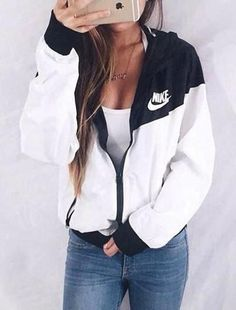 """NIKE"" Hooded Zipper Cardigan Sweatshirt Jacke Mantel Windjacke Sportswear Source by paige Spring Outfits, Winter Outfits, Casual Outfits, Gray Outfits, Club Outfits, School Outfits, Casual Wear, Sneakers Mode, Nike Sneakers"