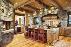 rustic kitchens - Bing Images