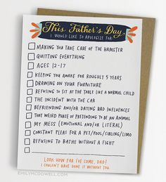 Funny Father's Day Cards That Are Better Than Dad Jokes Funny Fathers Day Card, Fathers Day Gifts, Gifts For Dad, Best Dad Jokes, Dad Rocks, Father's Day Greeting Cards, Cool Mom Picks, Diy Father's Day Gifts, Kids Writing