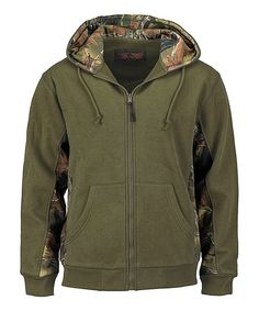Take a look at this Trail Crest Olive Zip-Up Hoodie today!