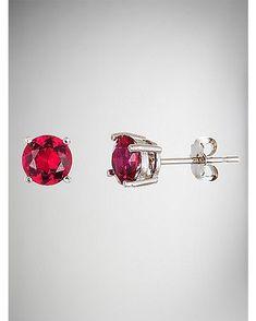 July Birthstone Stud Earrings - Spencer's