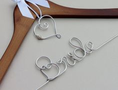 Wedding Dress Hanger with Charm for Brides and by EricaMayMade, $22.50