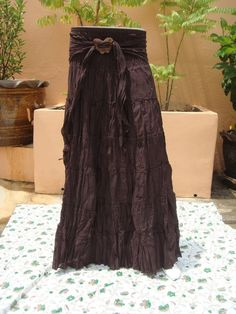 Long Skirt Cotton Ladies Woman Boho Hippie Gypsy by Natural2013, $13.99