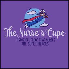 ADULT NURSE T-SHIRT• Nurse Cape Proves Nurses are Super Heroes! Cute! -ASST-4401