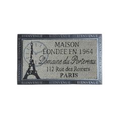 Felpudo París de alta calidad de goma con fibra de coco moldeada. Medidas: 75 x 45 cm. Material: Fibra de coco y goma. Base pvc antideslizante.