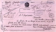 Telegram sent by Napoleon the third to Empress Eugenie and Ferdinand de Lesseps for the Inauguration of Suez Canal