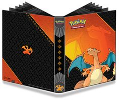 Ultra Pro Pokemon Charizard 9 Pocket Pro Binder: 9-pocket PRO-Binder with printed cover. Embossed middle black web material gives cards a classic framed look. Side loading pocket design to prevent cards from easily falling out. Elastic strap holds the binder shut when not in use. All materials made from archival-safe, acid-free non-PVC material. Holds 360 Cards in Ultra Pro Deck Protector sleeves. Features Charizard!