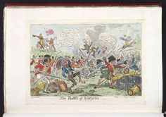 7 July 1813:Bodleian Libraries, The battle of Vittoria.Satire on the Peninsular war. (British political cartoon); Commemorates the battle of Vittoria, a victory for the British on 21 June, 1813.; Publisher's number: 201.