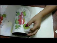 Декупаж и художественная подрисовка на металлической поверхности