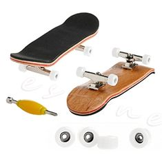 Milkhouse Wooden Fingerboard with Basic Bearing Wheels Skateboard Sport Games Kids Gift Set (White) >>> You can get additional details at the image link.(It is Amazon affiliate link) #instamood