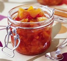 Use up that extra fruit and make a delicious pear & dried apricot chutney from BBC Good Food Chutneys, Kombucha, Dried Apricots, Bbc Good Food Recipes, Fermented Foods, Probiotic Foods, Canning Recipes, Food And Drink, Marmalade