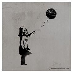 Vader Banksy Style