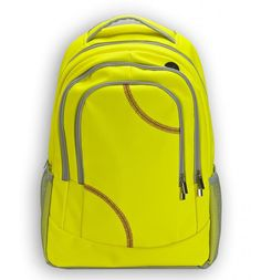 Zumer Sport's patent pending softball backpack is created from actual softball material. The softball material is durable, puncture resistant, and virtually spill proof! If you love softball, use the Softball Backpacks, Softball Bags, Softball Players, Girls Softball, Fastpitch Softball, Softball Stuff, Softball Things, Softball Gifts, Softball Party