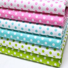 Buy cotton 6 PCS/set twill cloth / fashio 6 kind round dot pattern Pre Cut Charm manual DIY cloth/ creative small cloth/ patchwork fabric art/ sewing fabric / decorative fabric art (size at Wish - Shopping Made Fun Patchwork Fabric, Fabric Art, Fabric Decor, Cotton Fabric, Fabric Sewing, Sewing Crafts, Sewing Projects, Sewing Ideas, Quilted Clothes