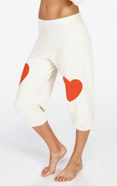 Wildfox Sweatpants - Lover Cropped Morning Sweats in Vintage Lace!  Queen of Hearts....1 pair left.  We attacked these.