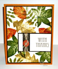 Designs by Lisa Somerville: stamped using Multi Step Big Leaves and sentiment from Multi Step Harvest - both from Kitchen Sink Stamps, Inc.