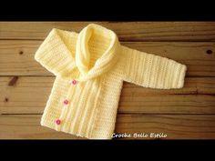 Baby Cardigan Knitting Pattern Free, Baby Sweater Patterns, Baby Knitting, Crochet For Kids, Crochet Baby, Knit Crochet, Baby Boy Dress, Blazer Pattern, Blazer For Boys