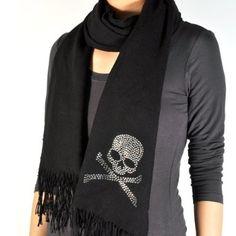 Love it.    Amazon.com: Skull Swarovski Crystal Scarf: Clothing