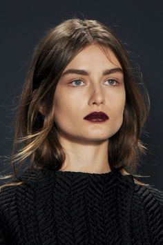 We know it's not for everyone, but this dark lip + bold brow look is hauntingly beautiful! What do you think?