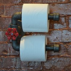 Double Roll Industrial Steel Pipe Toilet Paper Holder