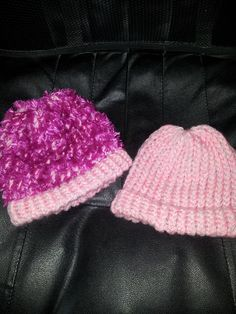 Loom knitted hats for charity