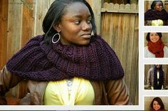 Craftdrawer Crafts: Free Knitting Infinity Scarf Pattern - Easy to Knit Scarf Pattern