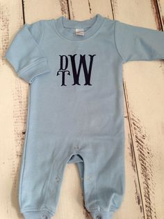 Monogrammed boys romper personalized coming home by skkilby21