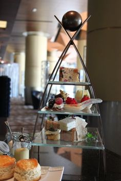 Afternoon Tea Stand. By Glass Studio  for Kempinski  Grand & Ixir Hotel Bahrain
