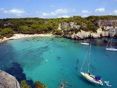 La plage de Macarella à Minorque