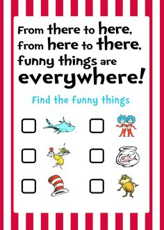 dr. seuss games, camp, school, birthday parties, scavenger hunts, seuss parti, dr seuss games, parti idea, dr seuss party games