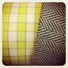 #neocon2013 fabric love, plaid herringbone