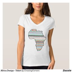 Africa Design - Tshirt Party Hats, Wardrobe Staples, Africa, Female, Casual, Model, Cotton, T Shirt, How To Wear