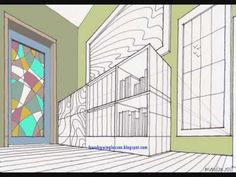 draw room two point perspective