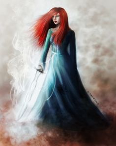 Shallan Davar from the Stormlight Archive! Her hair isn't curly enough, but other then that...
