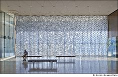 """""""Petra Blaise"""" Chazen Curtains, Photographs by Anton Grasslf curtains for Machado and Silvetti's Chazen Museum of Art in Madison, Wisconsin."""