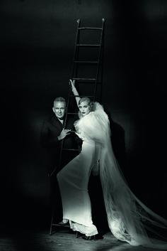 Peter Lindbergh Jean Paul Gaultier & Nadja Auermann, Paris, 2015